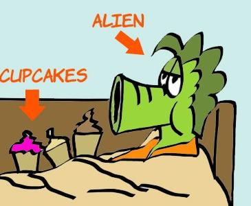 Virj eating cupcakes