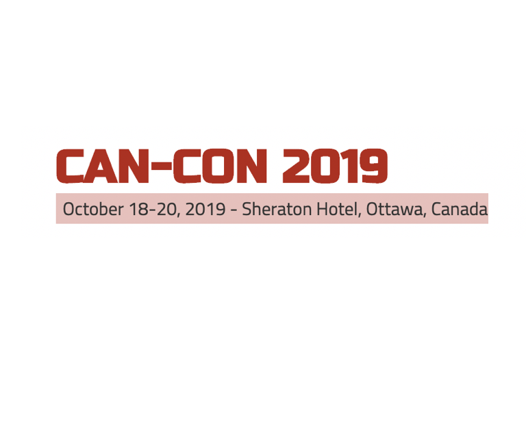 Can-Con 2019: October 18-20, 2019 - Sheraton Hotel, Ottawa, Canada