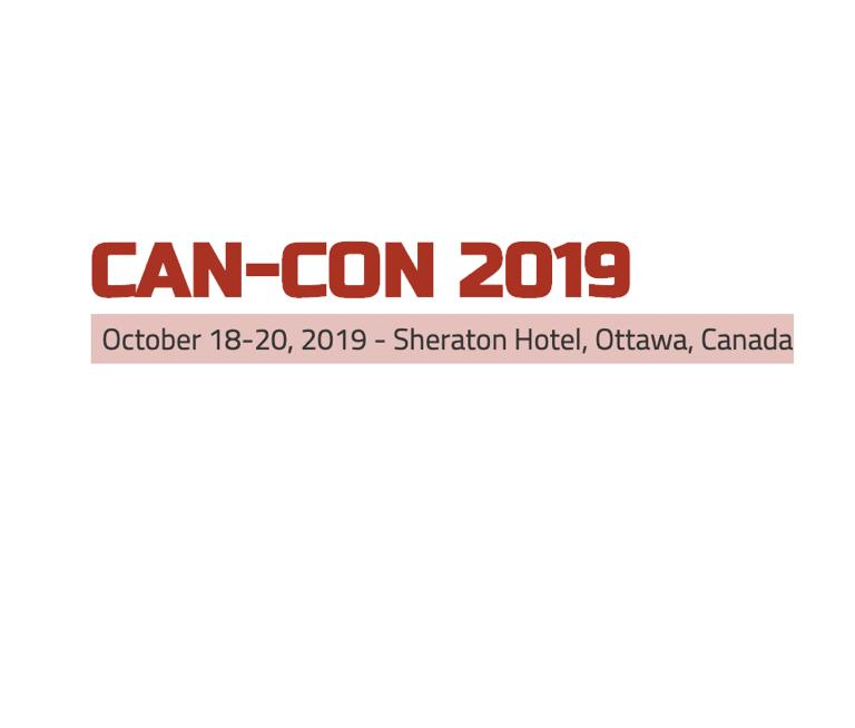 Can-Con 2019: October 18-20, 2019 - Sheraton Hotel, Ottawa, Canada