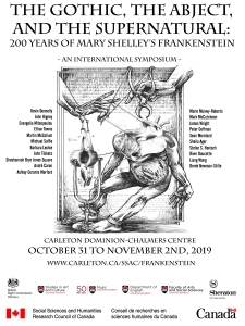Poster for the Gothic, they have checked at the supernatural, 200 years of Mary Shelley's Frankenstein
